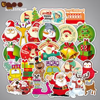 38pcs/set Christmas Stickers Planner Decoration Diy Scrapbooking Cute Stick Label