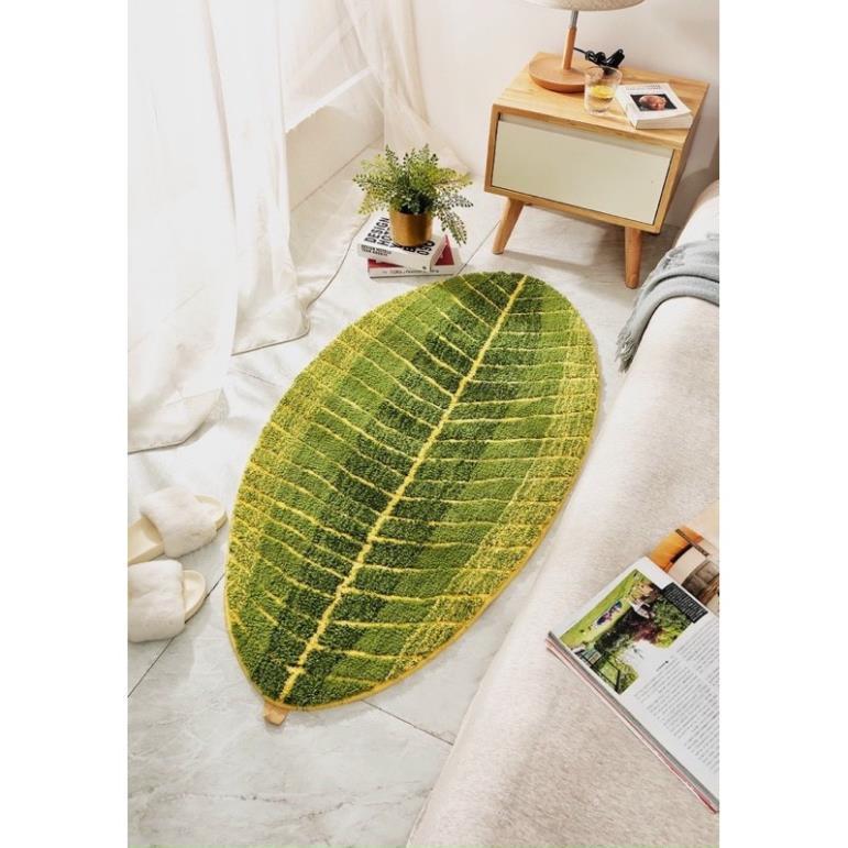 [FREE SHIP] Thảm Chiếc Lá Cực Kì Sang Trọng với kích thước 50cm*80cm (lớn), Mềm mịn thấm hút tốt