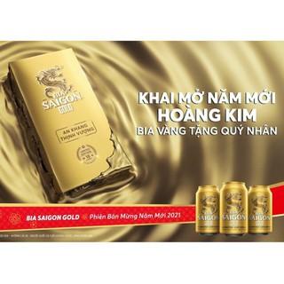 Bia Sài Gòn Gold – phiên bản Hoàng Kim 2021 (thùng 18 lon)