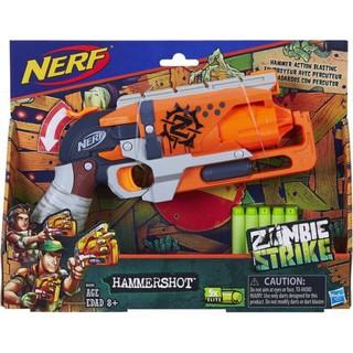 Đồ chơi Nerf Zombie Strike HammerShot ( cò cam US hộp mới ) + 10 que xốp