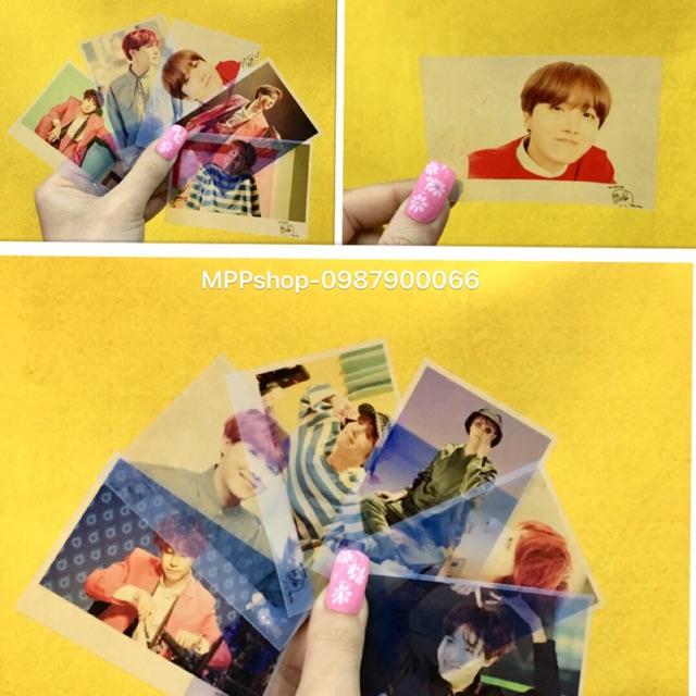 Combo 7 ảnh polaroid card có chữ ký JHOP BTS ngẫu ngiên nhiên