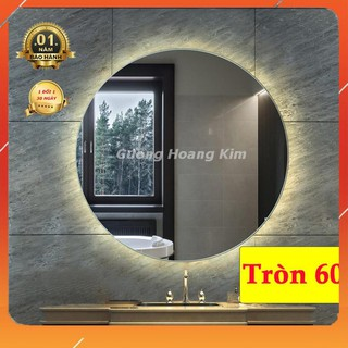 gương tròn treo tương đèn led cảm ứng thông minh kích thước tròn 60 cm – guonghoangkim mirror D60