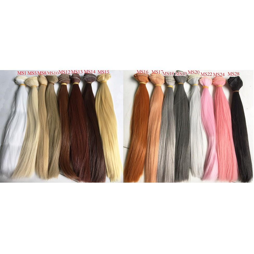 Tép tóc giả dài 25cm cho búp bê nhiều màu