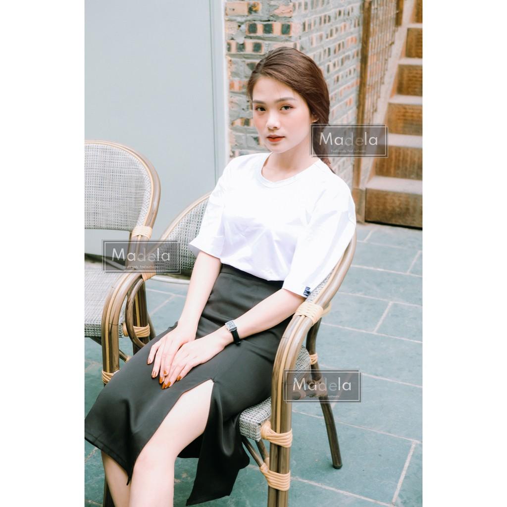 [Mã WAMT10K giảm 10K đơn 0K] chân váy dài ulzzang phong cách Hàn Quốc, chân váy chữ a dài xẻ tà