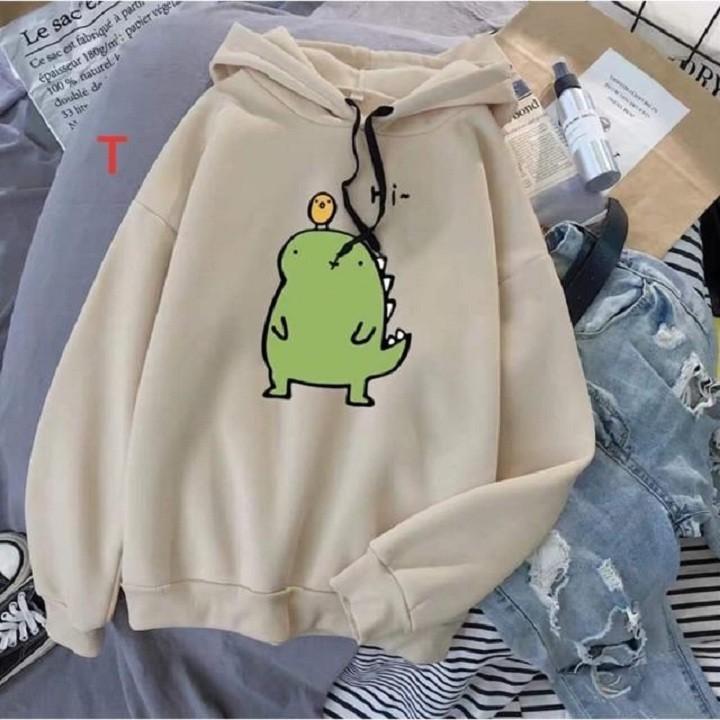 [SALE KHỦNG][Hàng mới - Ảnh thật] Áo hoodie khủng long nhiều màu lựa chọn HOT TREND