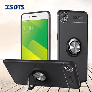 Ốp điện thoại TPU silicon mềm có vòng móc ngón có thể xoay và nam châm gắn xe hơi dành cho OPPO A37