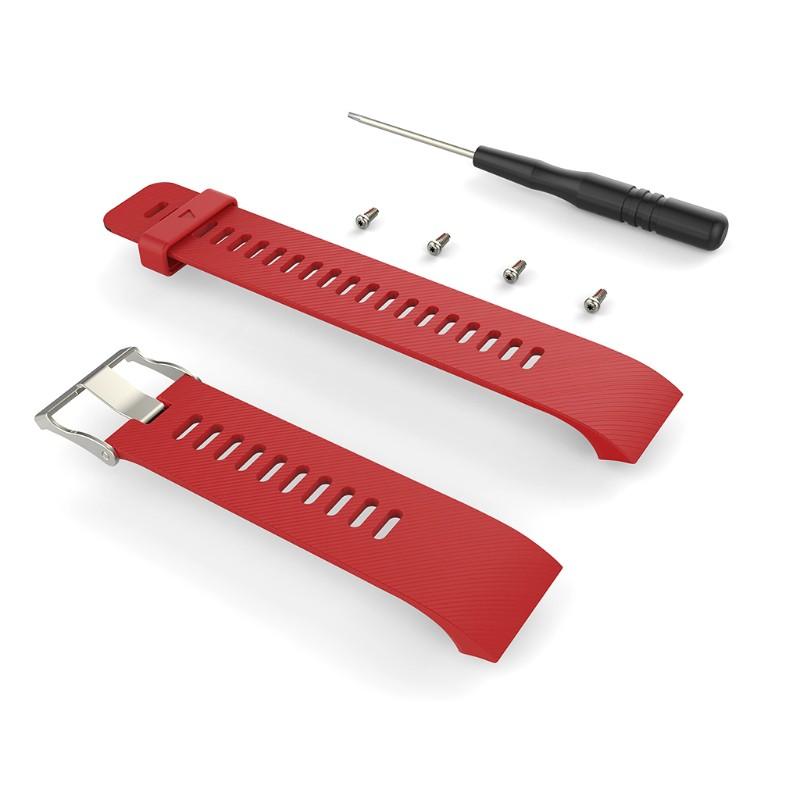Quai silicon đeo cổ tay kiểu dáng thể thao thay thế cho đồng hồ thông minh Garmin Erunner 35