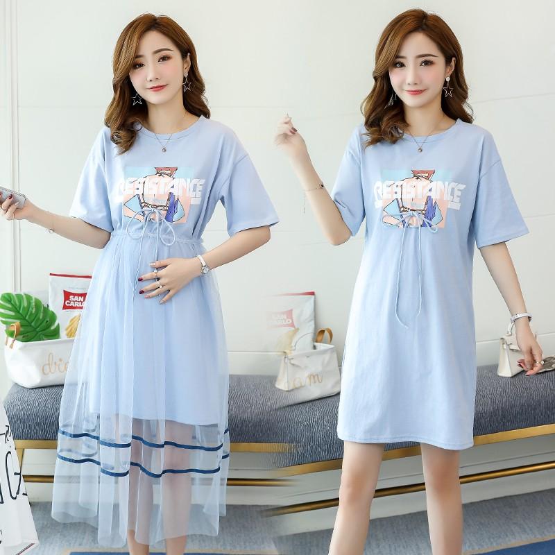 Đầm bầu , váy bầu phối ren dễ thương nâng động thích hợp cho công sở dạo phố