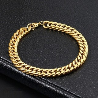 [GIÁ HUỶ DIỆT] Vòng tay Gold Cuban Mạ Tĩnh Điện – Delwyn SG