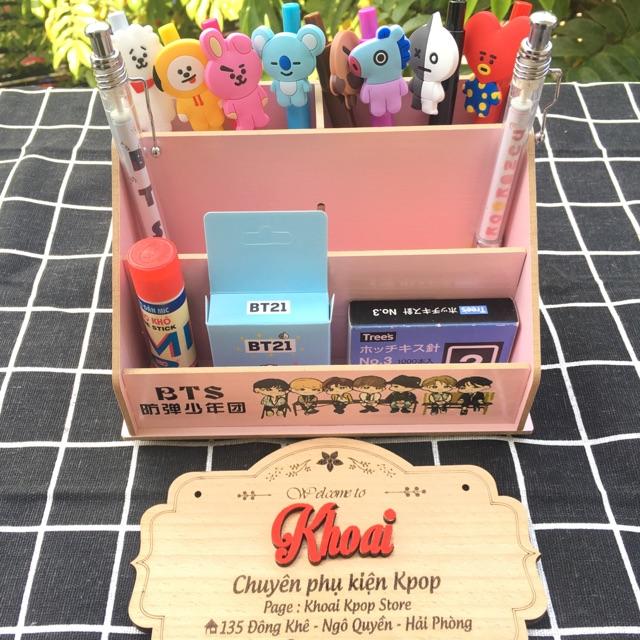 Hộp cắm bút, văn phòng phẩm BTS (bằng gỗ để bàn) - 3593593 , 1160615795 , 322_1160615795 , 89000 , Hop-cam-but-van-phong-pham-BTS-bang-go-de-ban-322_1160615795 , shopee.vn , Hộp cắm bút, văn phòng phẩm BTS (bằng gỗ để bàn)