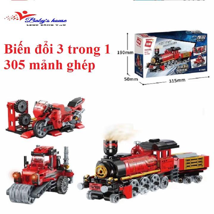 Bộ lắp ráp biến đổi 3 trong 1 kiểu lego Qman 42101