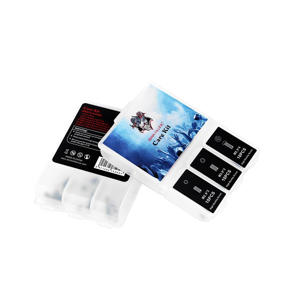 [CARE] Demon Killer Vape DIY Kit with 30pcs RDA Screws Silicone Ring Clean Brush Giá chỉ 51.750₫