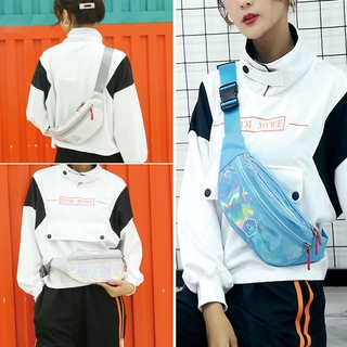 Túi đeo chéo phối laser thời trang chống thấm nước cho nam nữ