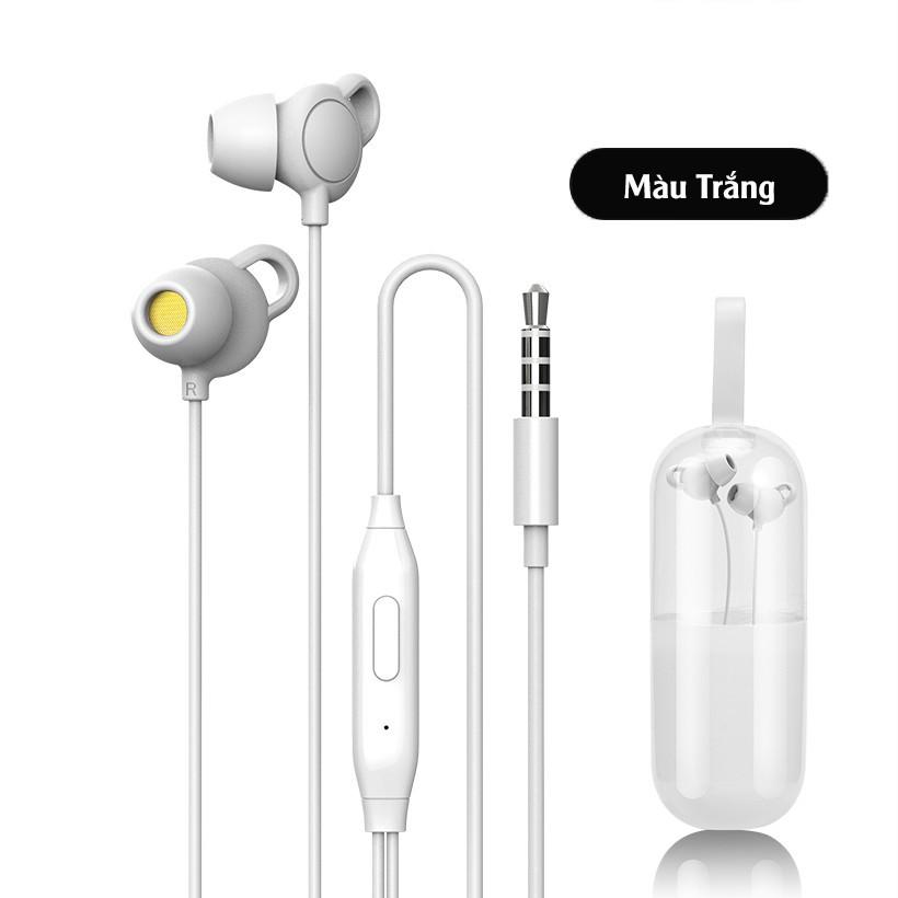 ◐▲✟Tai nghe Chống Ồn - Tích Hợp Micro Âm Thanh HiFi Chất Lượng Cao Tặng Kèm Vỏ Đựng Hình Con Nhộng Toppu Store