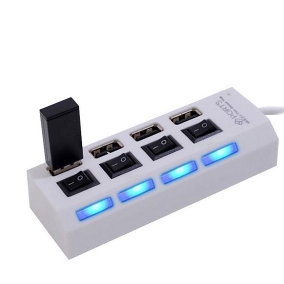[GIÁ SỐC]  Hub USB 4 cổng hình ổ điện có công tắc