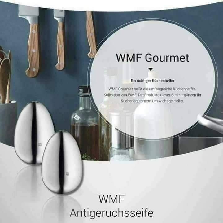 Trứng rửa tay khử mùi WMF - khử các mùi tanh từ thịt cá, hành tỏi [NỘI ĐỊA ĐỨC]