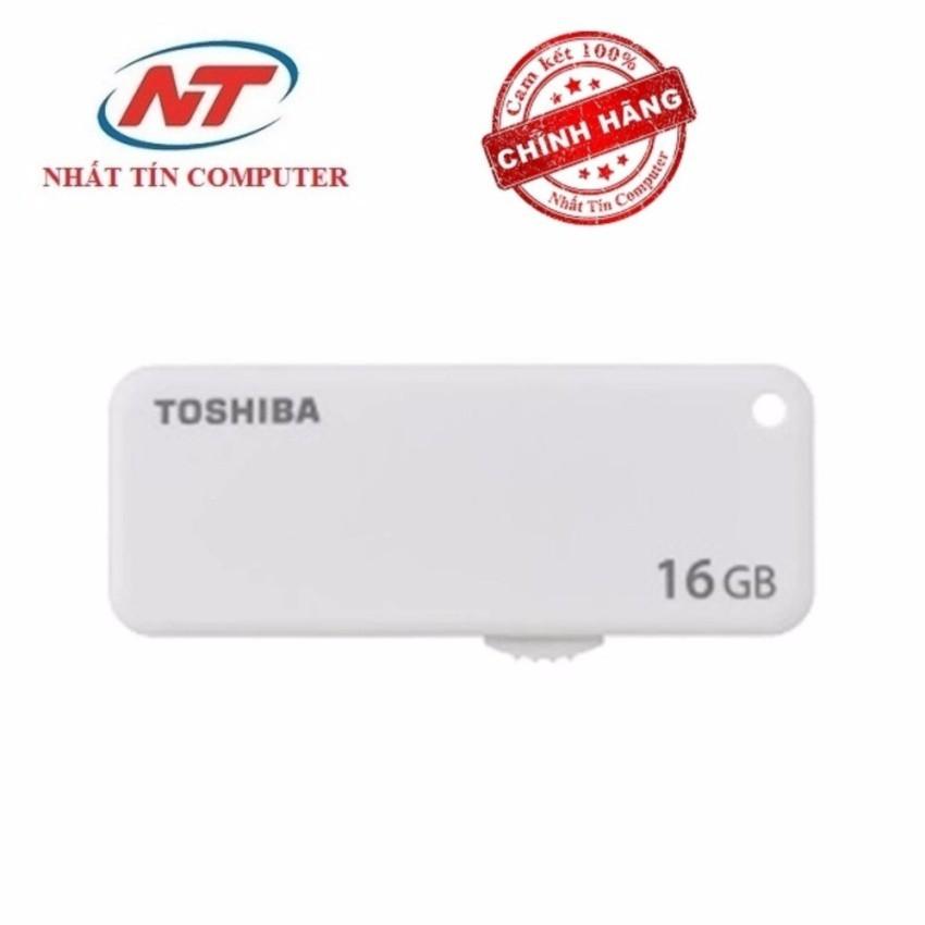 USB 2.0 Toshiba Transmemory Yamabiko U203 16GB nắp trượt (Trắng)