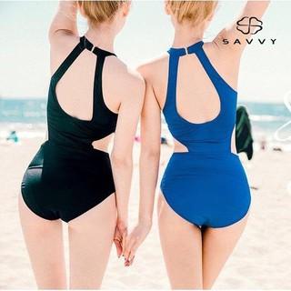 Đồ Bơi Nữ, Bikini Liền Thân Che Bụng Cặp Đôi, Monokini Xanh Coban SAVVYSHOP thumbnail