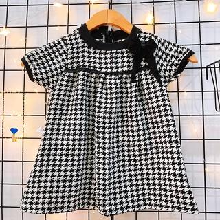 Đầm dạ nơ đen cao cấp tay phồng sang trọng cho bé 1-7 tuổi chất dạ đan dày dặn có lót trong thiết kế BBShine – D073