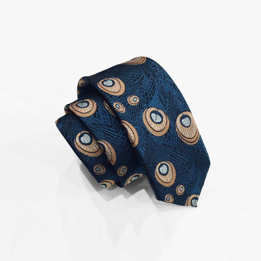 Cavat gấm hoạ tiết đuôi công - MANTINO Cà vạt