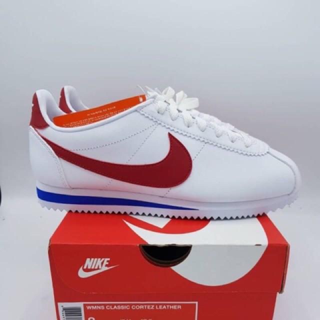 Nike Classic Cortez พื้นแดง Leather แท้ %
