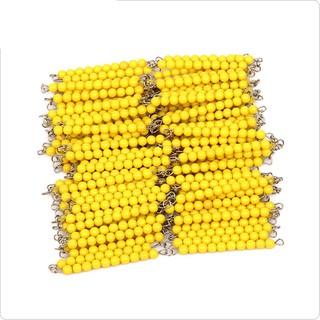 Giáo cụ Montessori – Chuỗi 1000 hạt cườm vàng (Bead Chains of 1000)