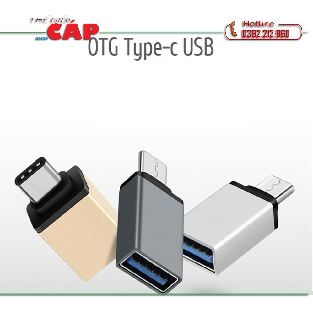 Đầu Chuyển Đổi Type-C Sang USB 3.0 Kết Nối Bàn Phím, Chuột Với Điện Thoại Android