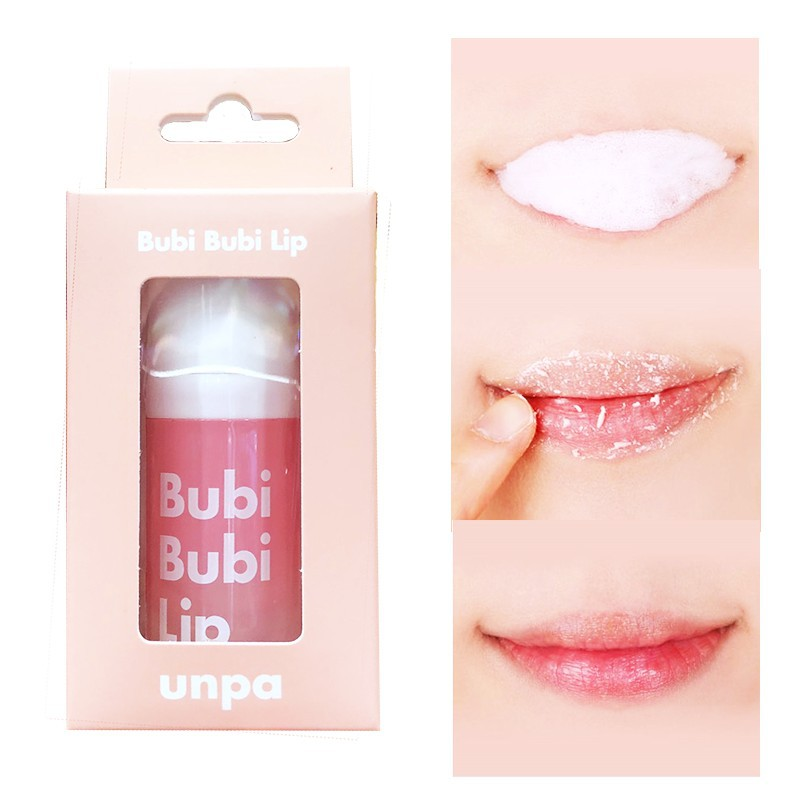 TẨY TẾ BÀO CHẾT MÔI DẠNG SỦI BỌT UNPA BUBI BUBI LIP - làm mềm và hồng môi |  Shopee Việt Nam