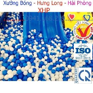 {MT1}Set 10 quả bóng nhựa mềm 7cm màu trắng xanh vui nhộn cho bé bóng nhựa cho bé,nhà banh,nhà bóng