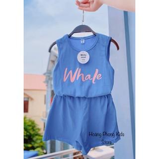 Bộ cotton quần áo trẻ em sát nách quần giả váy Minky Mom cho bé gái