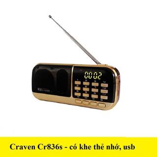 Loa radio mini Craven CR836s nghe đài, nghe nhạc, nghe kinh phật thumbnail