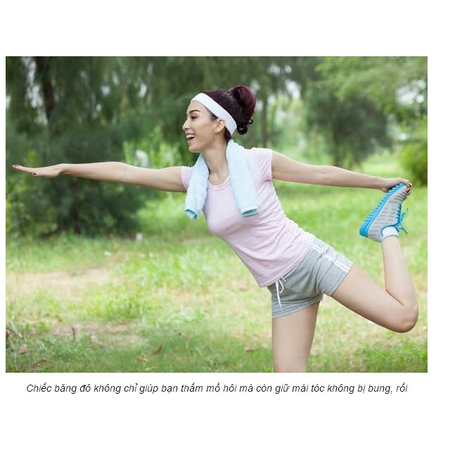 Băng đô đeo đầu tập thể thao, Yoga, aerobic