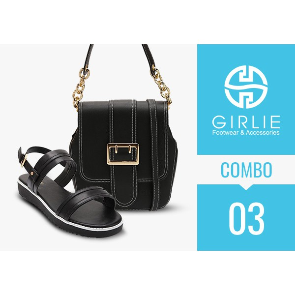 Toàn quốc [Evoucher] - Combo 03 (Túi xách hộp + Sandal) - thương hiệu Girlie