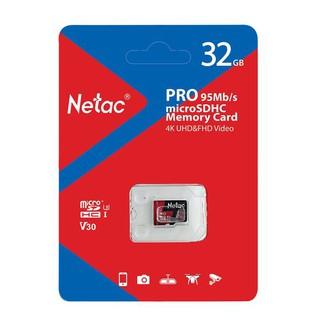 [Mã ELFLASH5 giảm 20K đơn 50K] Thẻ Nhớ Netac 32GB U3 Pro Micro TF Tốc Độ Cao 95MB/S - Chính Hãng.