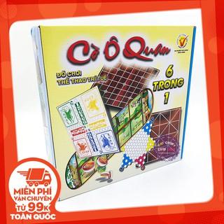 [FREESHIP TỪ 99K]Hộp đồ chơi cờ ô quan 6 trong 1: cờ caro, cờ gánh, cờ cá ngựa, cờ caro, cờ vây