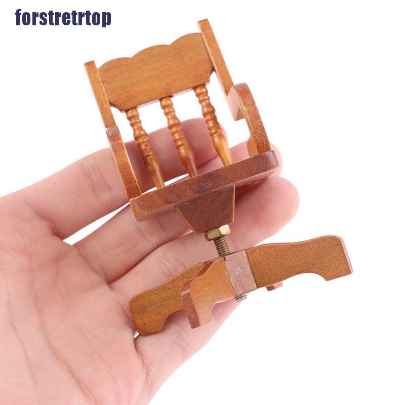 【FSTTTOP】1:12 Dollhouse Miniature Furniture Armchair For Dolls House Accessori