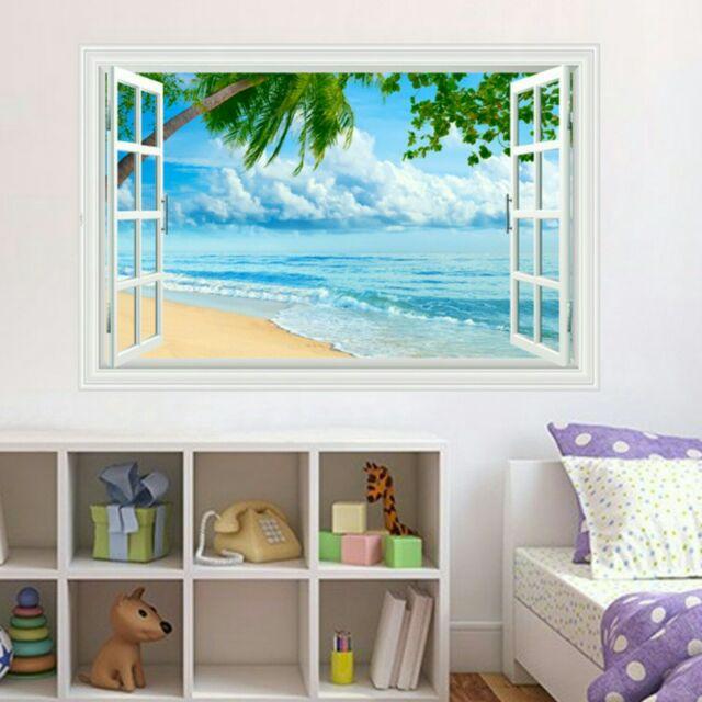 DECAL DÁN TƯỜNG bãi biển 6