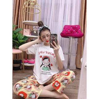 Set đồ bộ nữ xinh xinh cô gái Enjoy life
