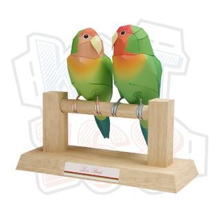 Mô hình giấy Love Birds