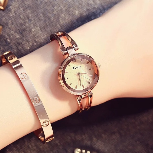 Đồng hồ nữ Kimio 6033 Hàng chính hãng dây kim loại nhỏ xinh