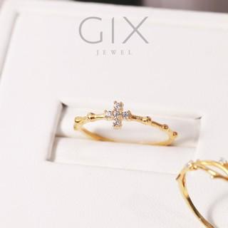 Nhẫn nữ bạc đẹp mạ vàng thánh giá HCM Gix Jewel SPGN22 thumbnail