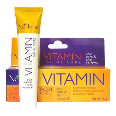 Gel xóa mờ vết thâm và tái tạo da Vitamin Facial Care 12g