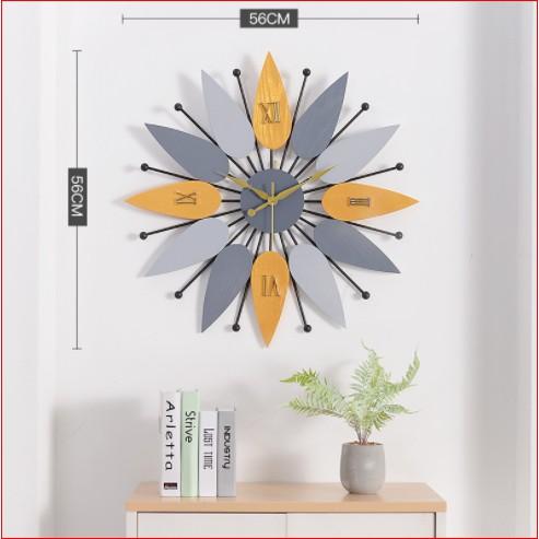 Đồng hồ treo tường hình cánh hoa Lian975 hàng chính hãng