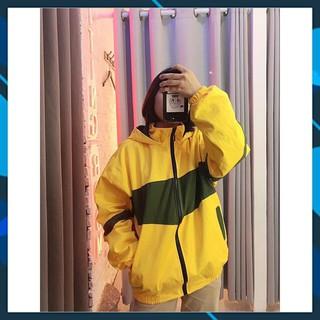 [FREESHIP] Áo khoác dù phối màu có mũ, áo khoác nam nữ phong cách - sọc ngang lớn - KD8