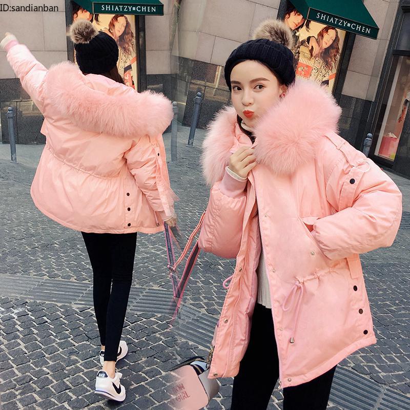Áo Khoác Cotton Cổ Phối Lông Thời Trang Cho Nữ