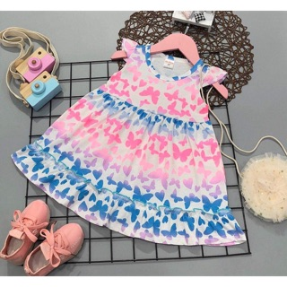 Váy thun cotton hình thú xinh yêu cho bé