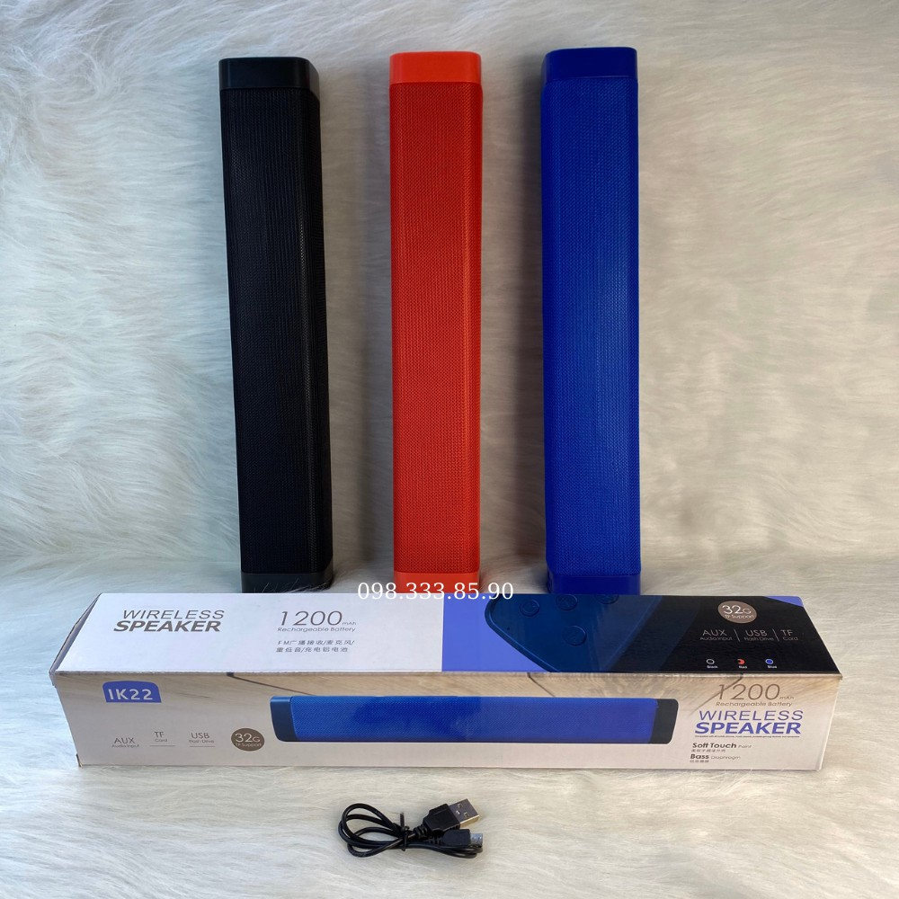 Loa Thanh IK22 Bluetooth, Âm Bass Cực Lớn, Pin Trâu, CNS.365 Hỗ Trợ Thẻ Nhớ, USB, AUX