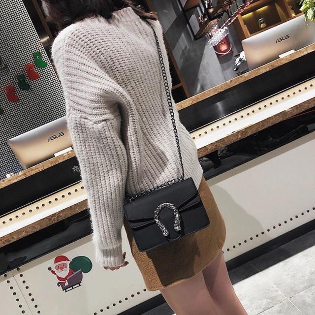 Túi xách đeo chéo nữ đẹp Silicon đầu rồng DC22