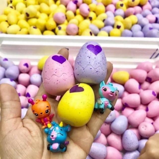 10 Trứng mini hatchimals (không tim) tặng 1 bé shopkins
