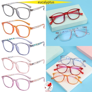 🌱EUPUS🍀 Fashion Kids Glasses Portable Anti-blue Light Comfortable Eyeglasses TR90 Online Classes Computer Children Boys Girls Eye Protection Ultra Light Frame/Multicolor